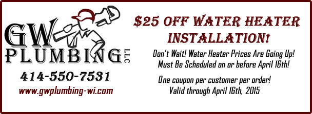 water installation coupon $25 OFF